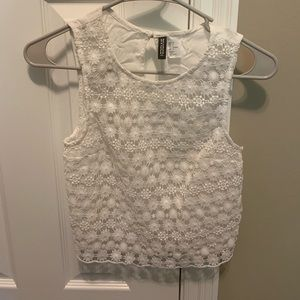 H&M divided collection cropped tank top